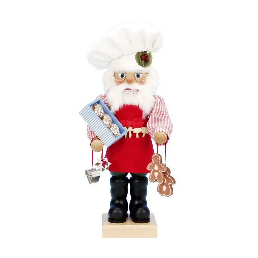 Alexander Taron Wood Gingerbread Santa Nutcracker Ornament