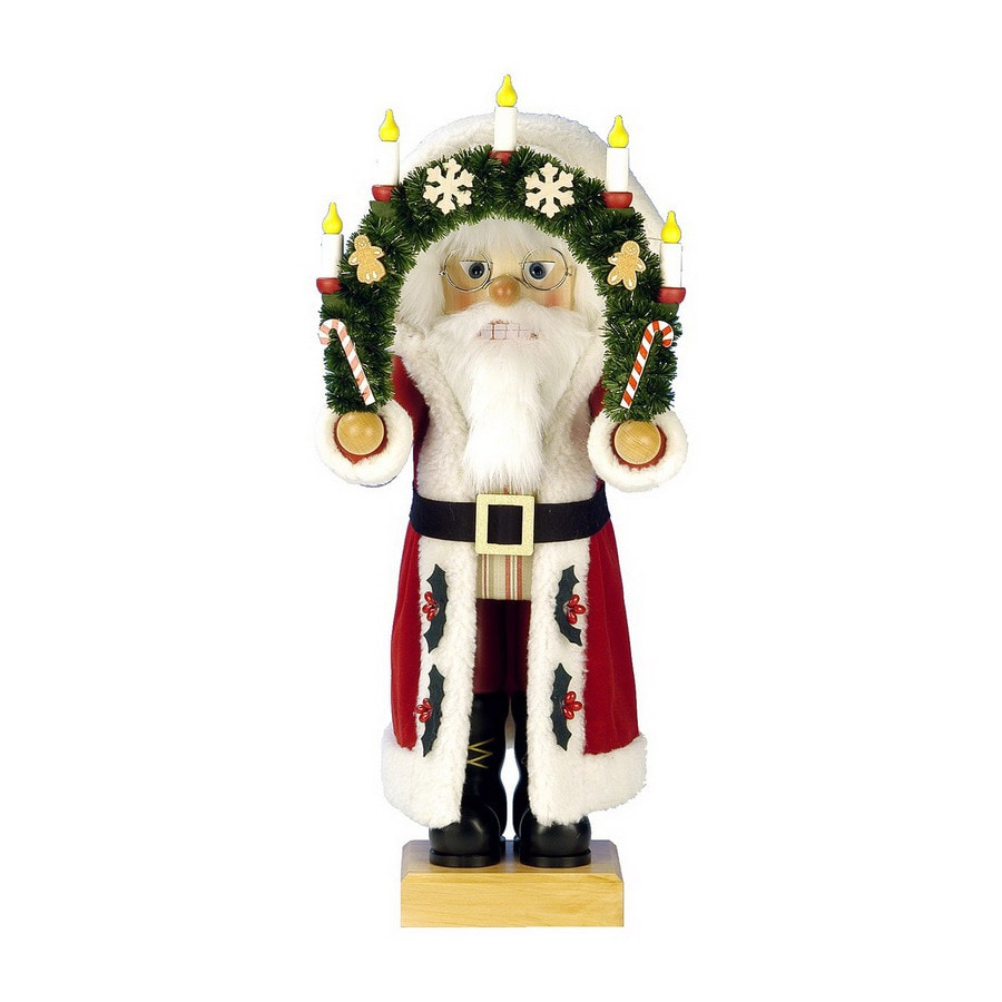 Alexander Taron Wood Arch Santa Nutcracker Ornament