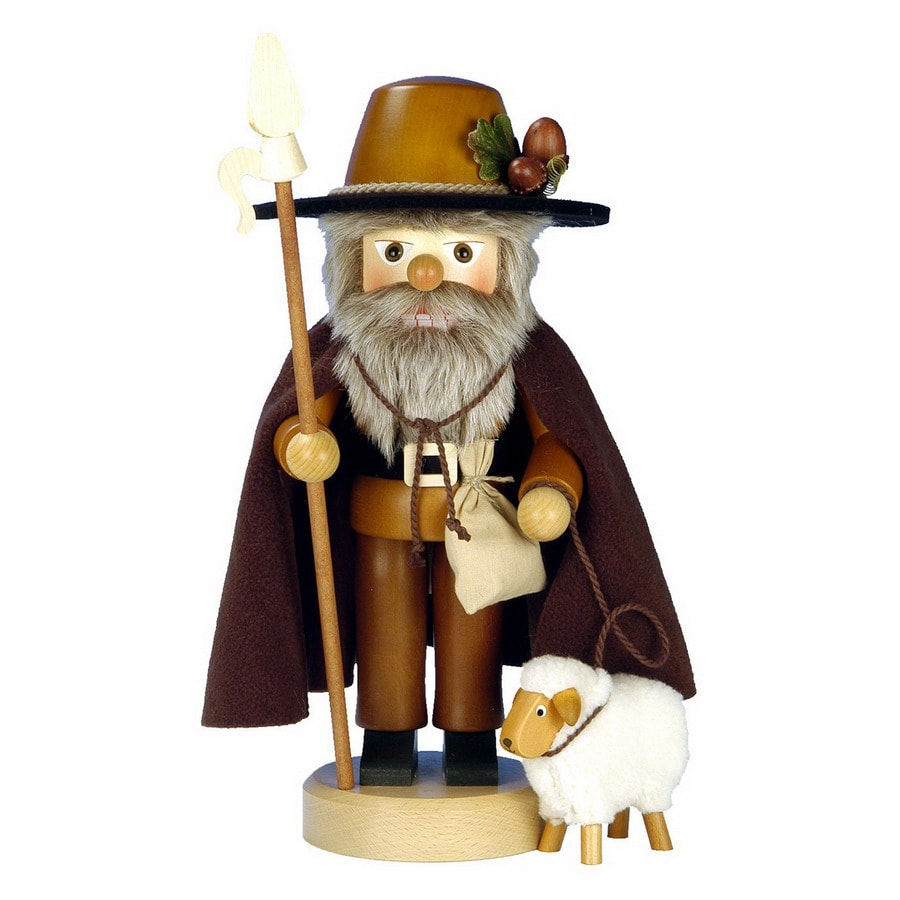 Alexander Taron Wood Shepherd Nutcracker Statue Ornament