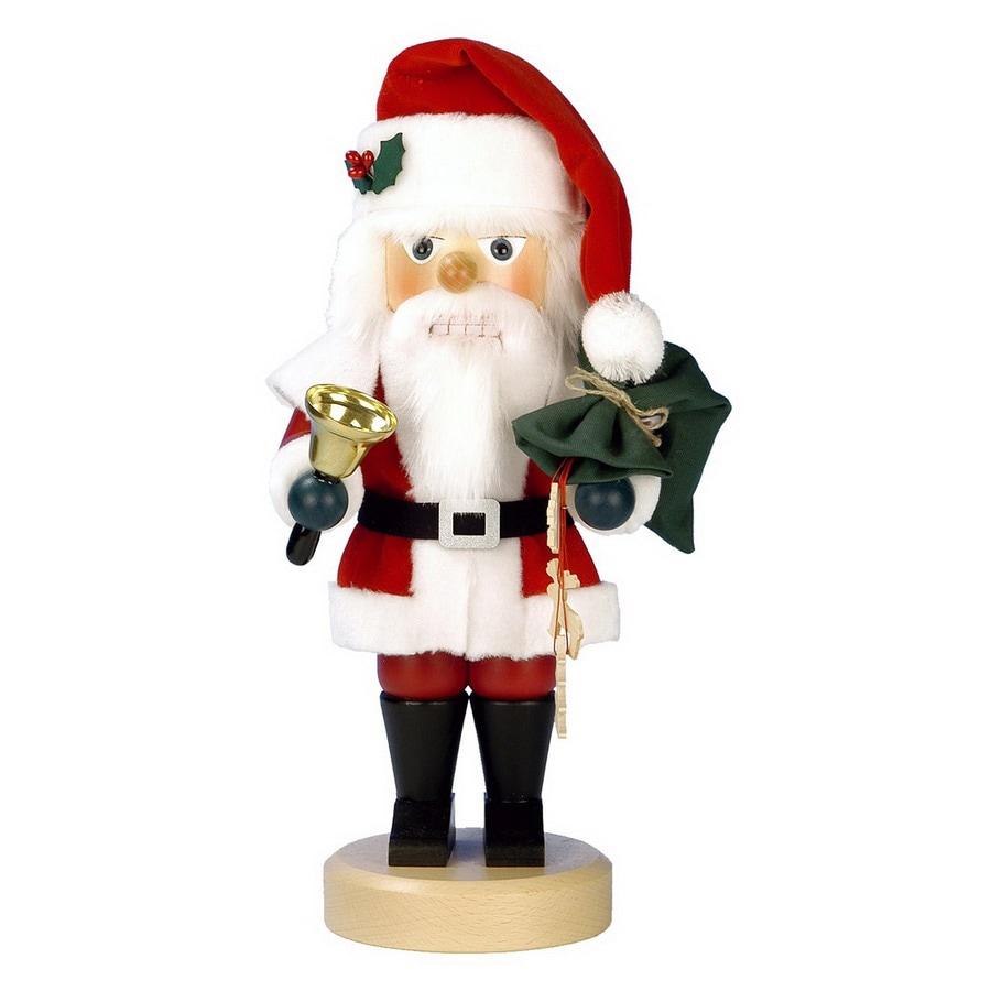 Alexander Taron 1-Piece Christian Ulbricht Tabletop Santa with Bell Nutcracker Indoor Christmas Decoration