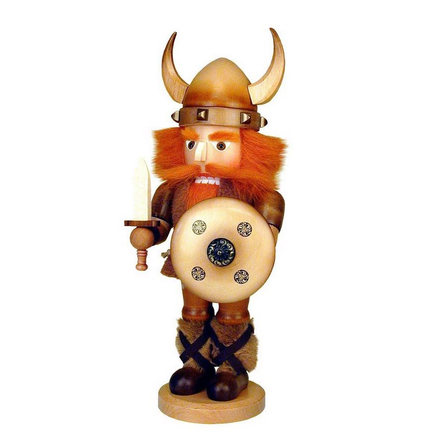 Alexander Taron Wood Viking Natural Nutcracker Ornament