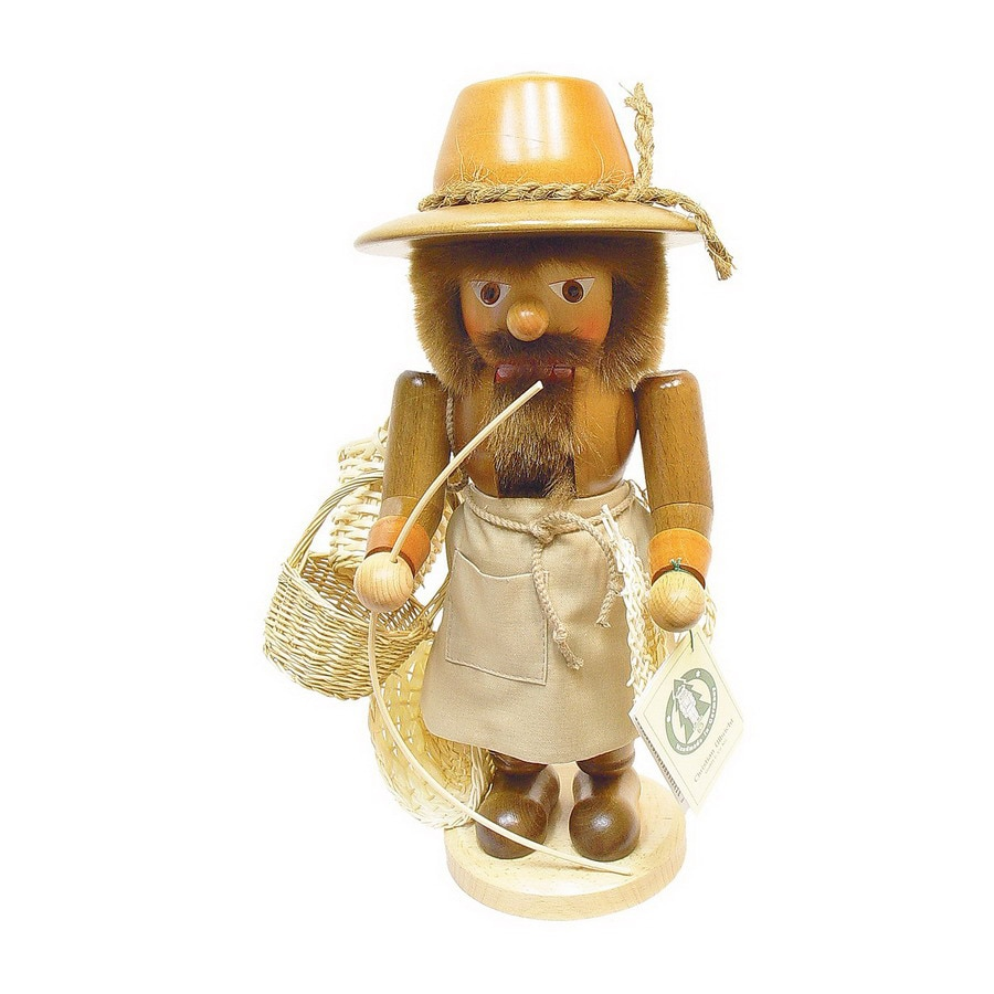 Alexander Taron Wood Basket Maker Natural Nutcracker Ornament