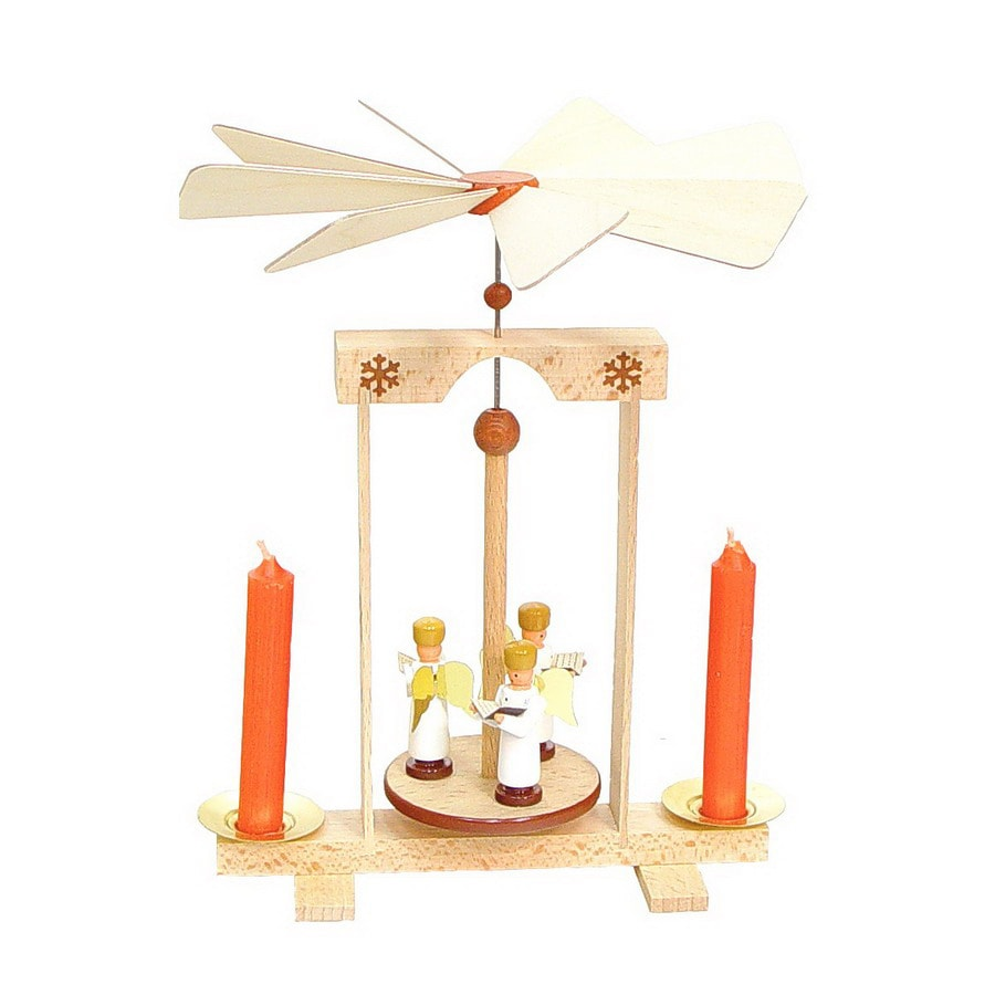 Alexander Taron 1-Piece Dregeno Tabletop Ange Candle Pyramid Indoor Christmas Decoration