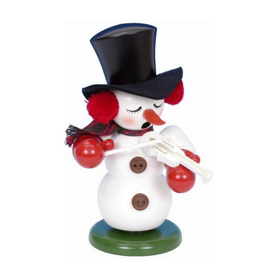 Alexander Taron Musical Snowman with Violin Smoker Ornament
