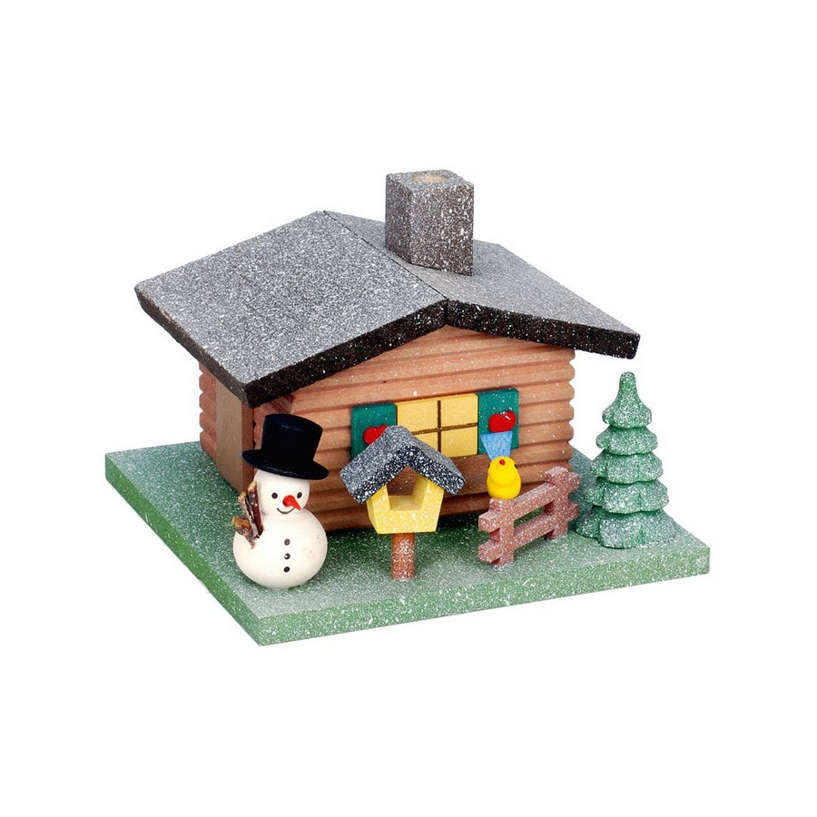 Alexander Taron Wood Snowman Incense House Ornament