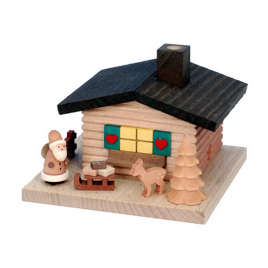 Alexander Taron Wood Santa Incense House Ornament