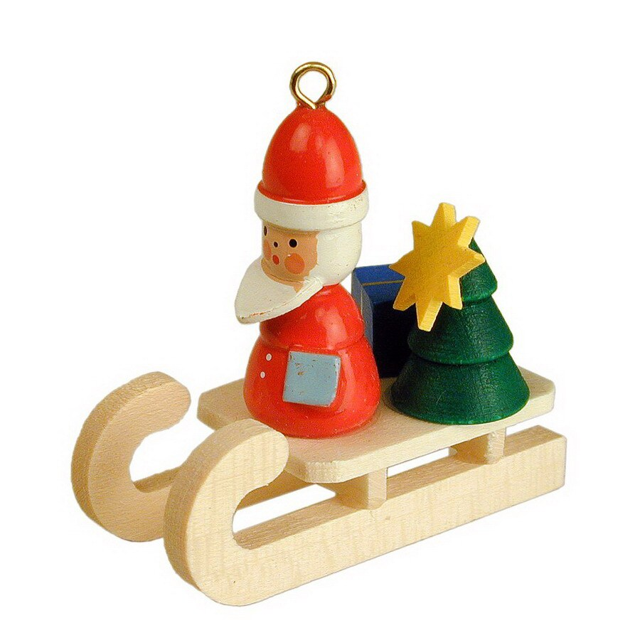 Alexander Taron Wood Santa Sled Ornament