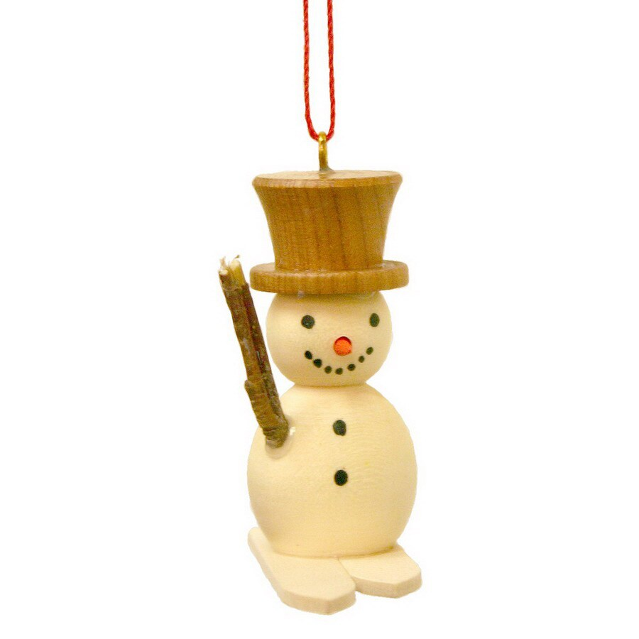 Alexander Taron Wood Snowman Snowman Ornament