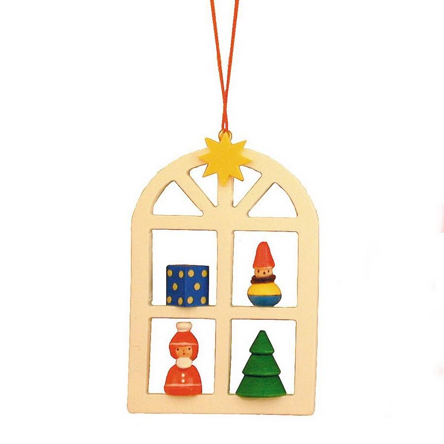 Alexander Taron Wood Window Ornament