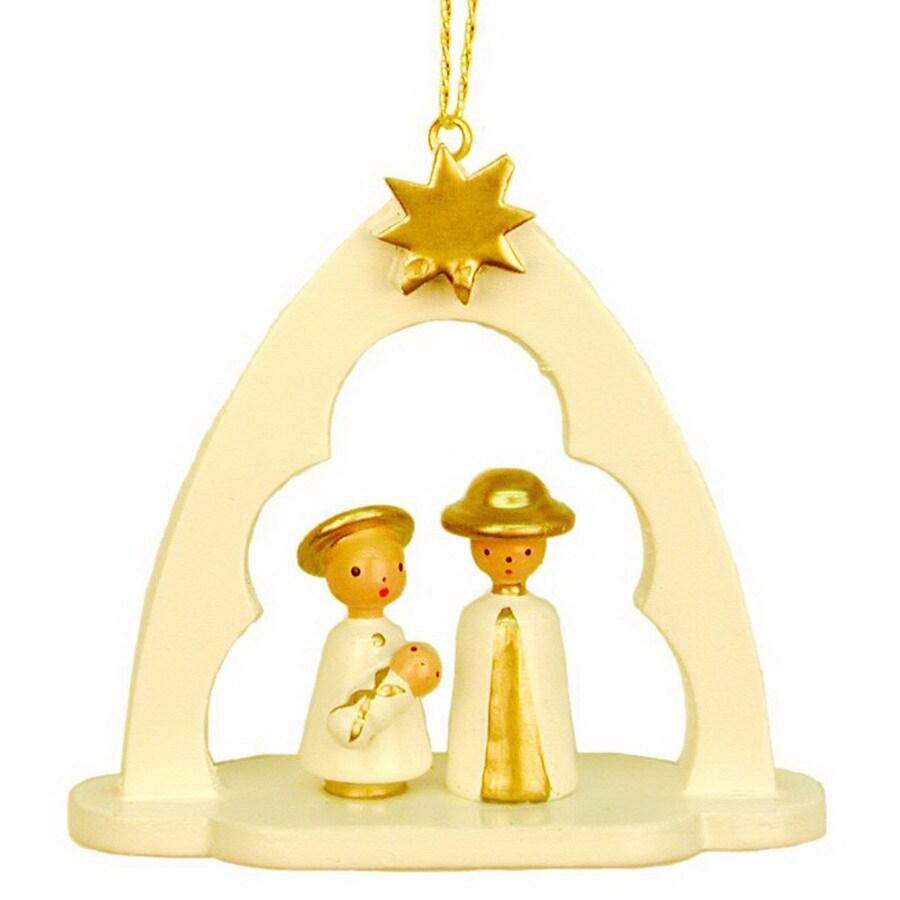 Alexander Taron Wood Nativity Arch Ornament