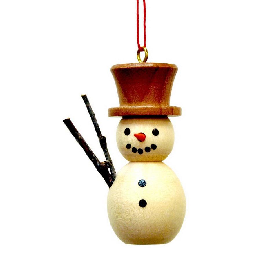 Alexander Taron Wood Snowman Ornament