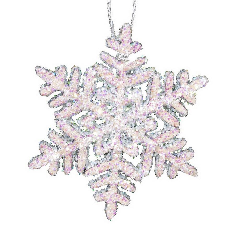Alexander Taron Plastic White Snowflake Ornament