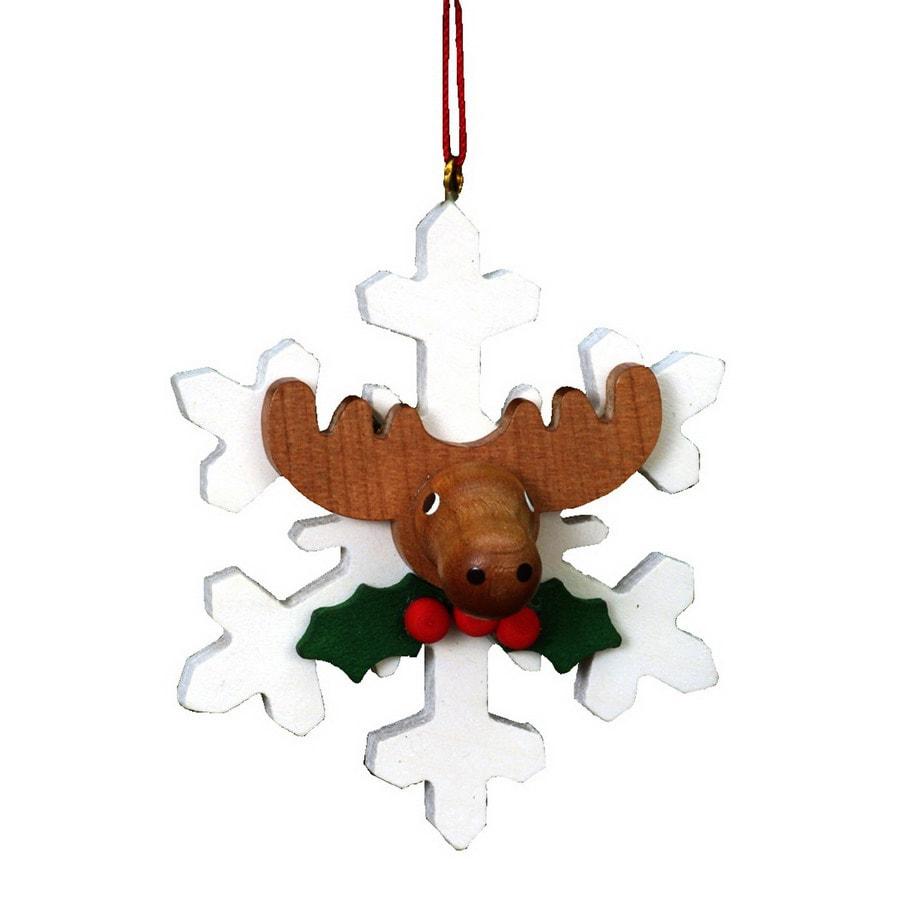 Alexander Taron Wood Snowflake Elk Ornament