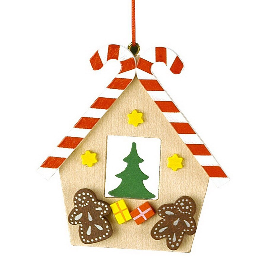 Alexander Taron Wood Gingerbread House Ornament