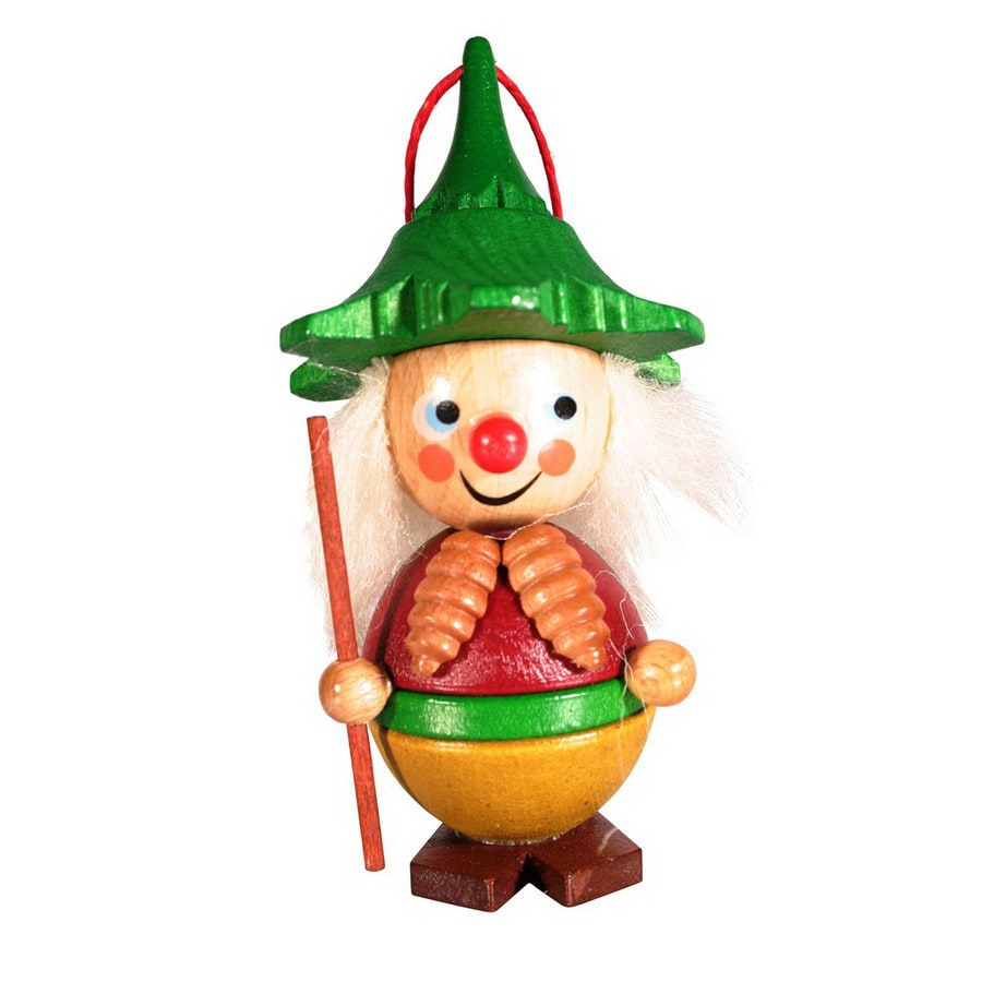 Alexander Taron Wood Pinecone Boy Ornament