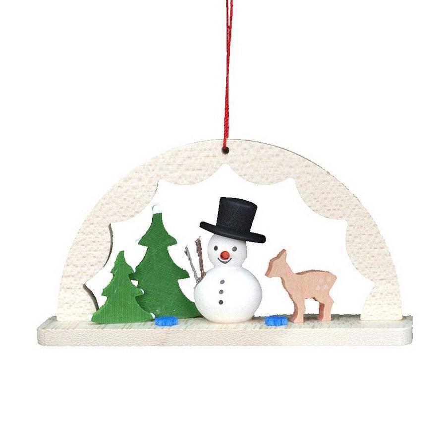 Alexander Taron Wood Arch Way Snowman Ornament
