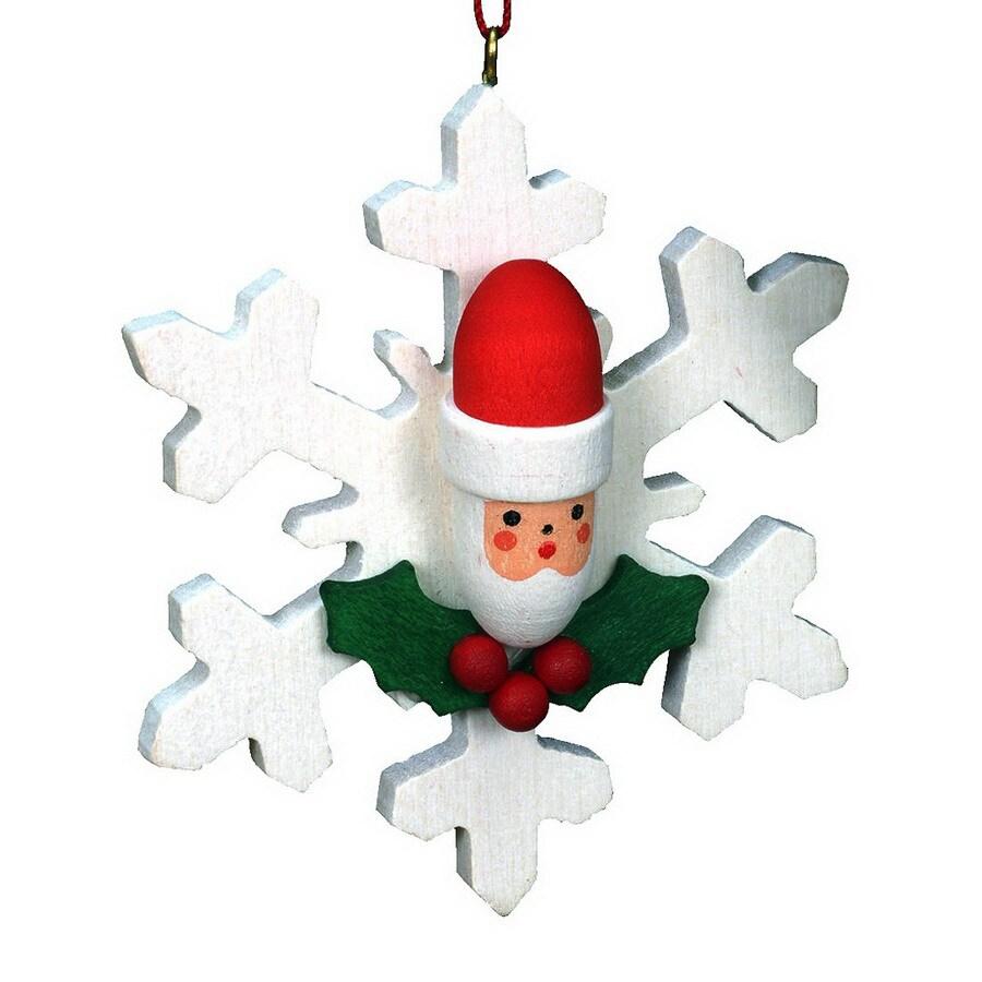 Alexander Taron Santa Snowflake Ornament