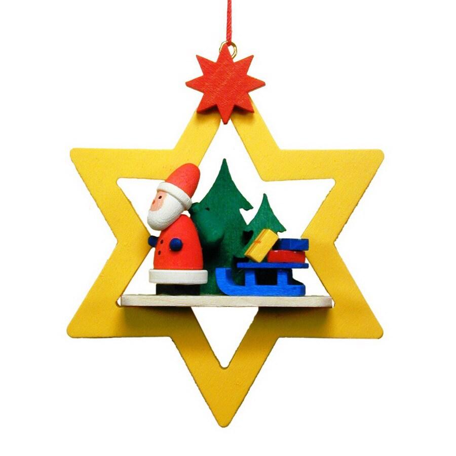 Alexander Taron Santa Star Ornament