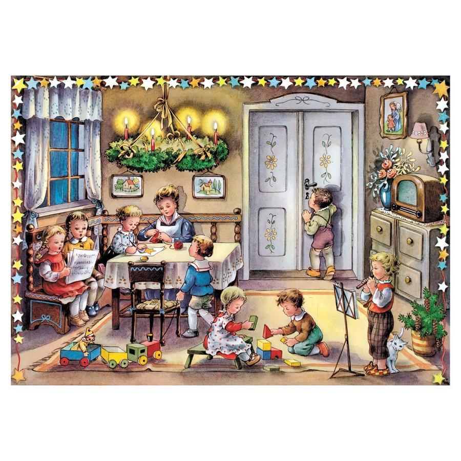 Alexander Taron Small Children Advent Calendar Winter Scene Indoor Christmas Decoration