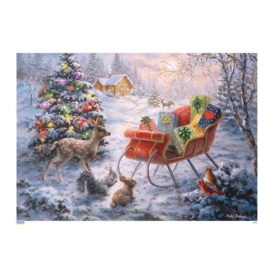 Alexander Taron Santa's Sleigh Metal Tabletop Advent Calendar