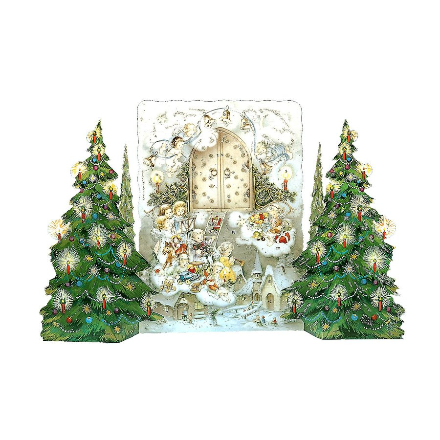 Alexander Taron Child's Christmas Metal Tabletop Advent Calendar