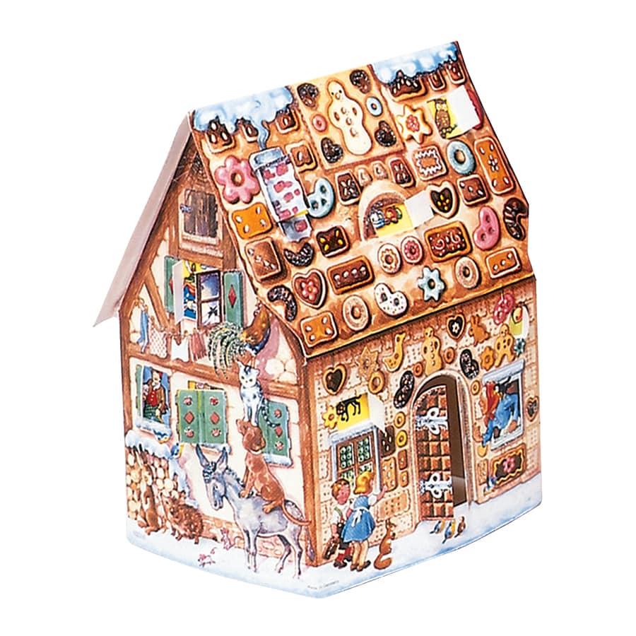 Alexander Taron Gingerbread House Metal Tabletop Advent Calendar