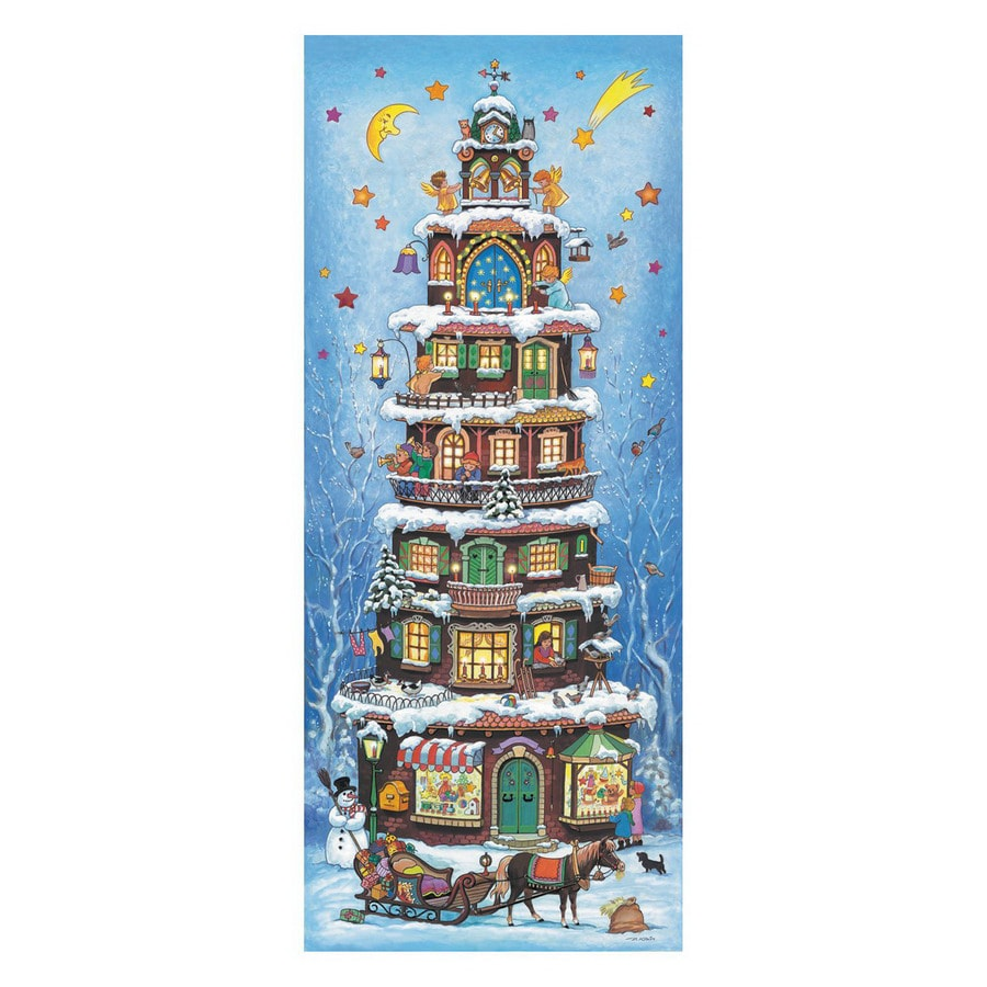 Alexander Taron Metal Pyramid Large Advent Calendar Ornament