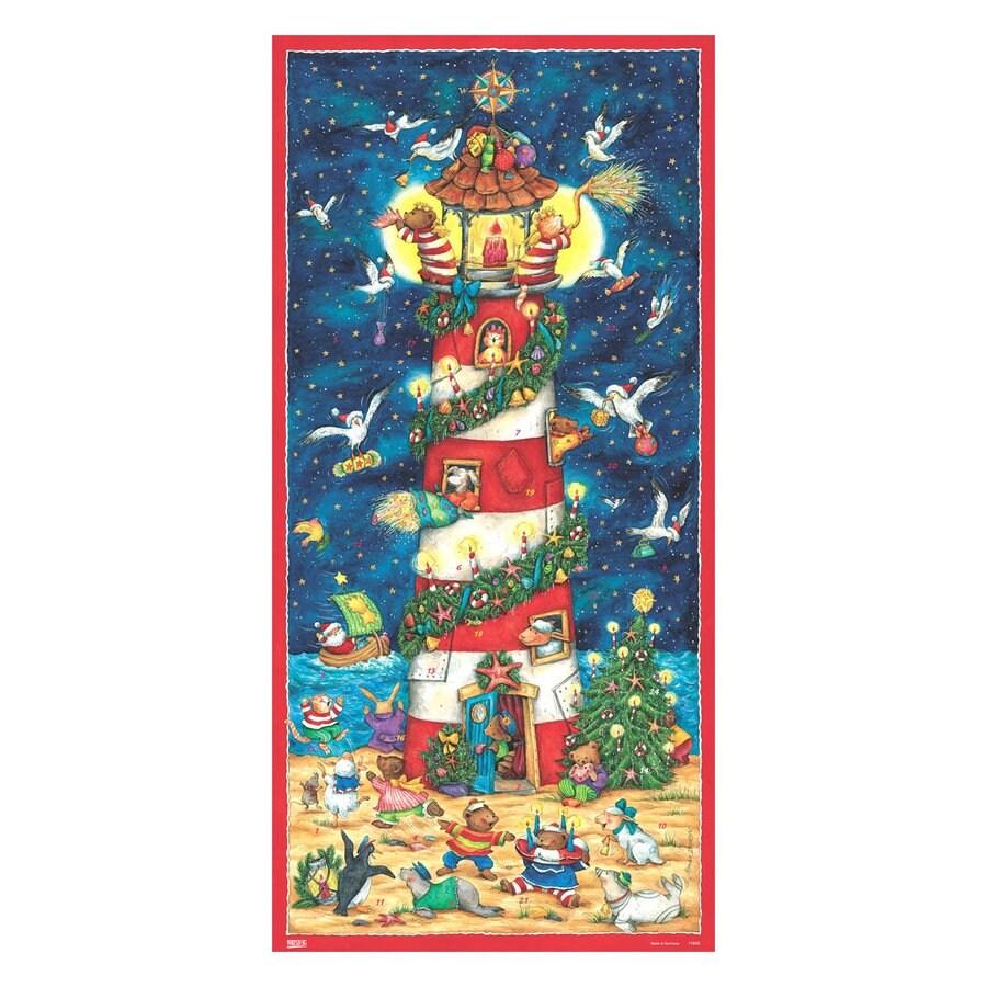 Alexander Taron Light House Advent Calendar Winter Scene Indoor Christmas Decoration