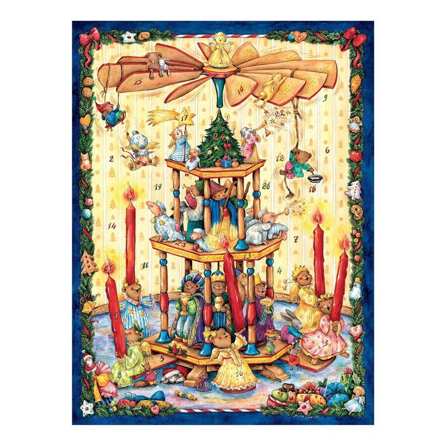 Alexander Taron Metal Animal Pyramid Advent Calendar Ornament