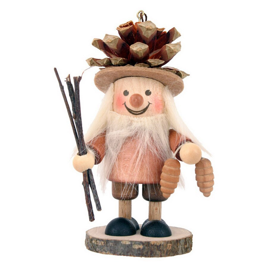Alexander Taron Wood Pinecone Boy Ornament