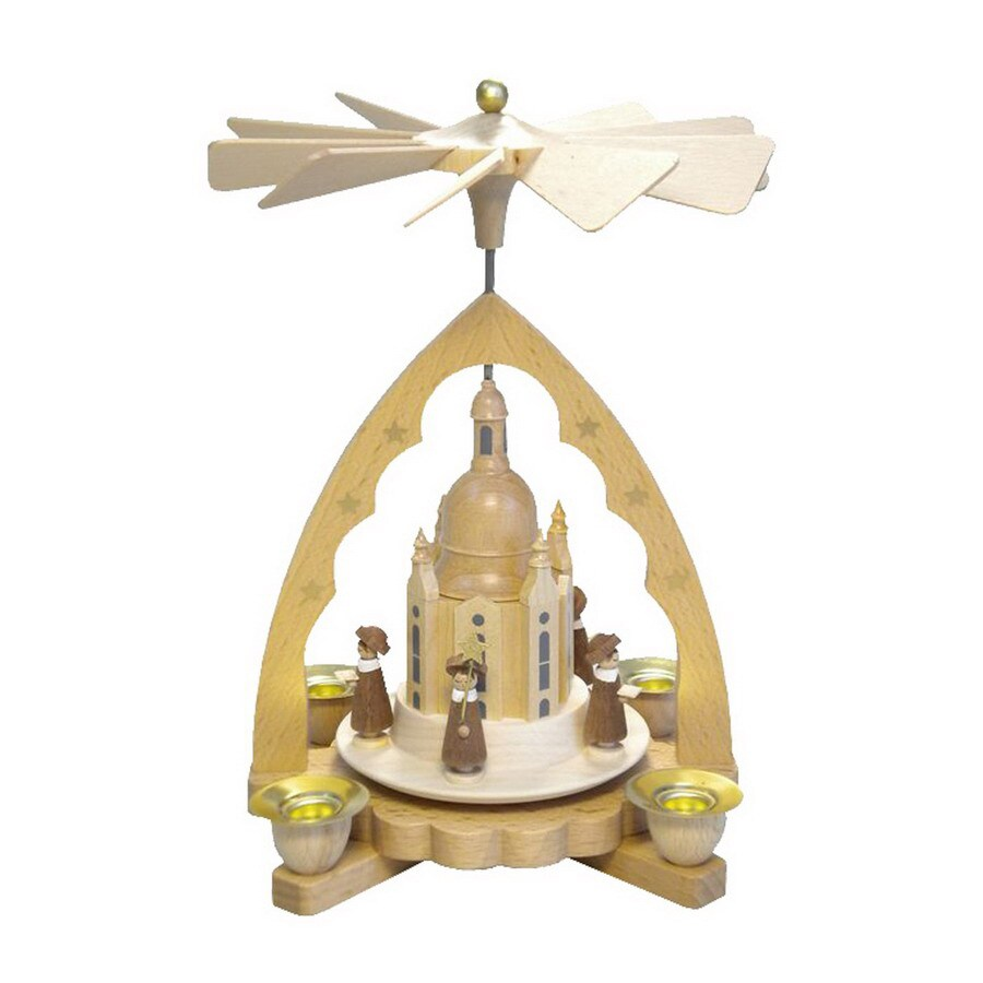 Alexander Taron Wood Choir Church Pyramid Ornament
