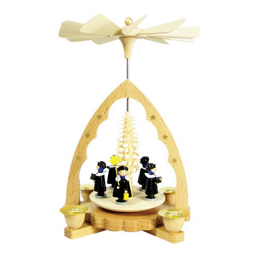 Alexander Taron Wood Carolers Pyramid Ornament