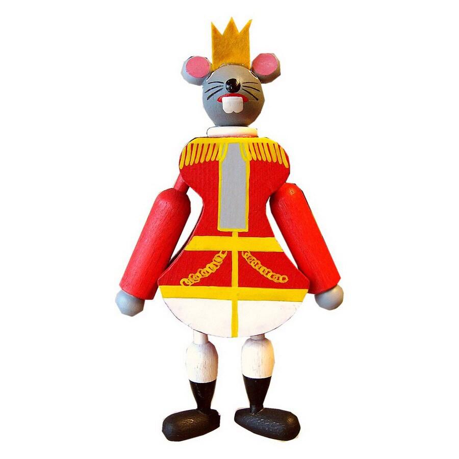 Alexander Taron Wood Mouse King Jumping Jack Ornament