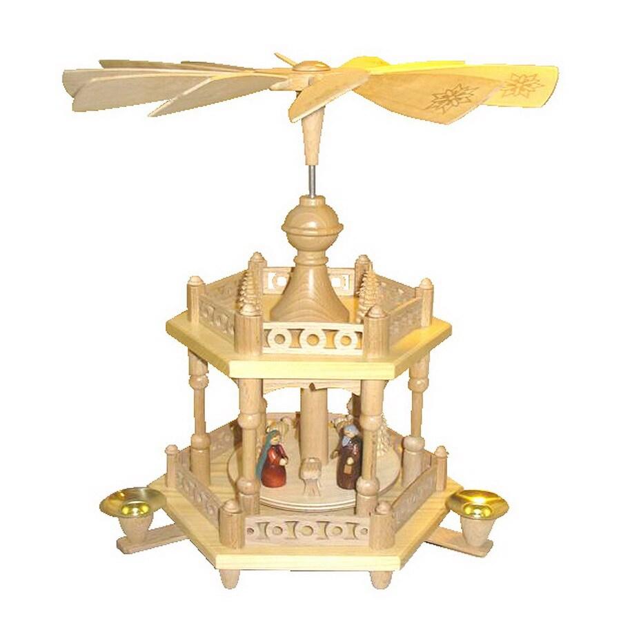 Alexander Taron Wood Nativity Colonel Pyramid