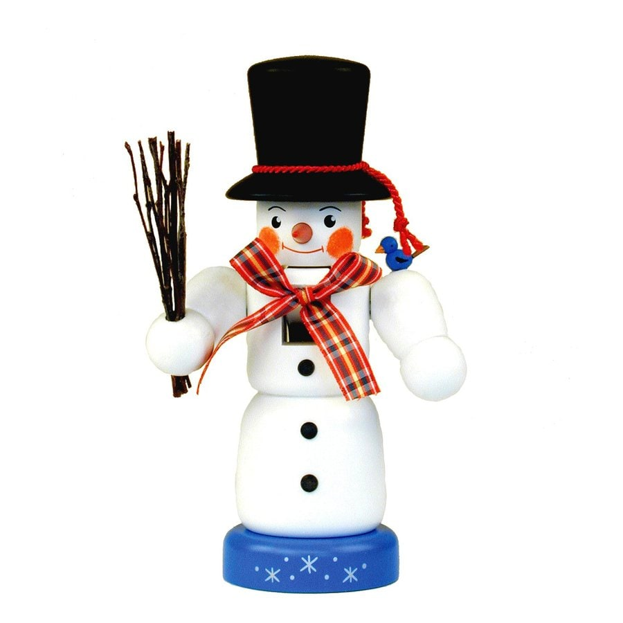 Alexander Taron Snowman Nutcracker Wood Tabletop Figurine