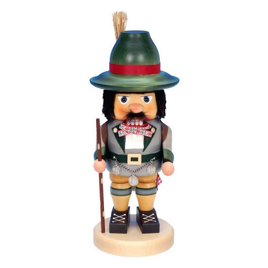 Alexander Taron Wood Happy Wanderer Nutcracker Ornament