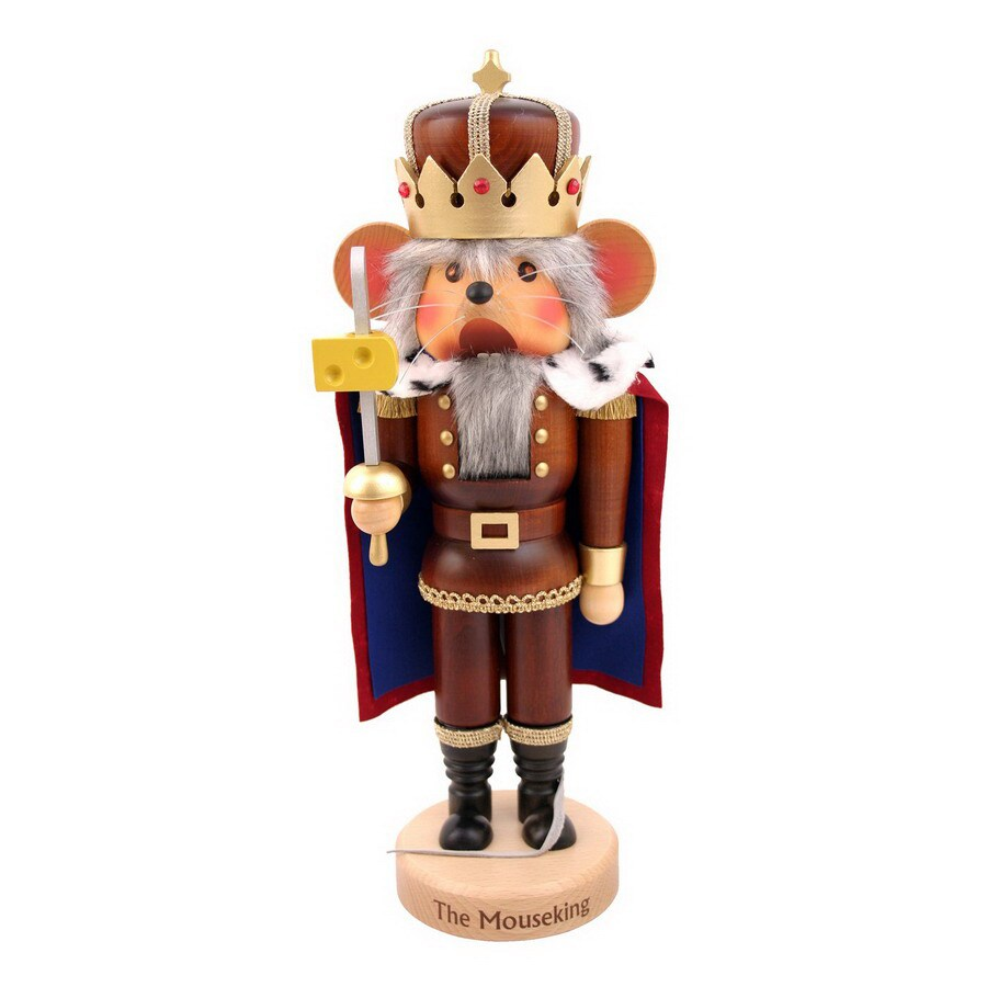 Alexander Taron Wood Mouse King Limited Edition Natural Nutcracker Ornament