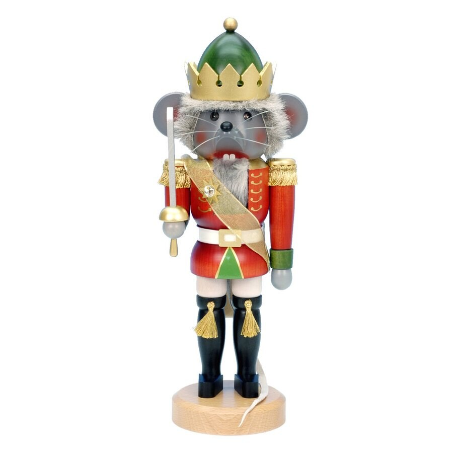 Alexander Taron Mouse King Wood Freestanding Figurine