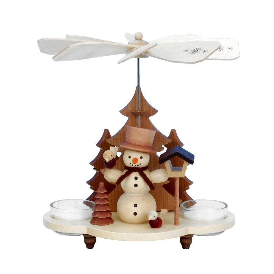 Alexander Taron Candle Holder Snowman Indoor Christmas Decoration