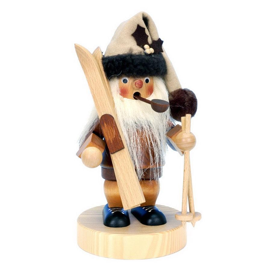 Alexander Taron Wood Santa Natural Smoker Ornament
