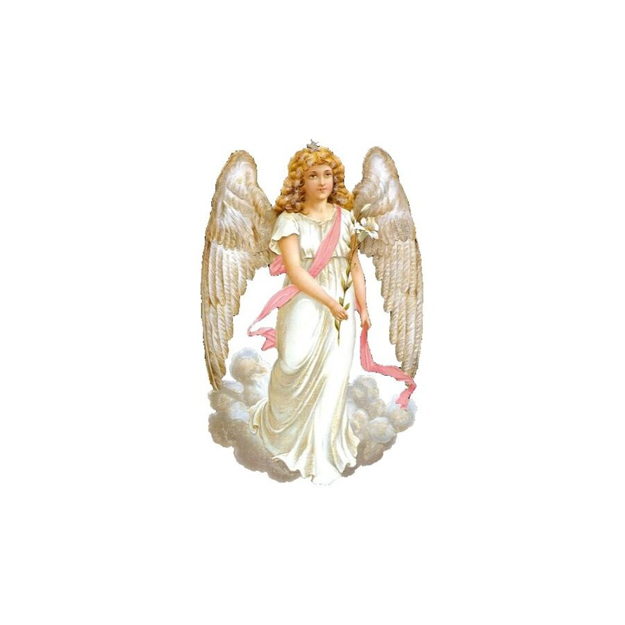 Alexander Taron White Angel Standing Christmas Card