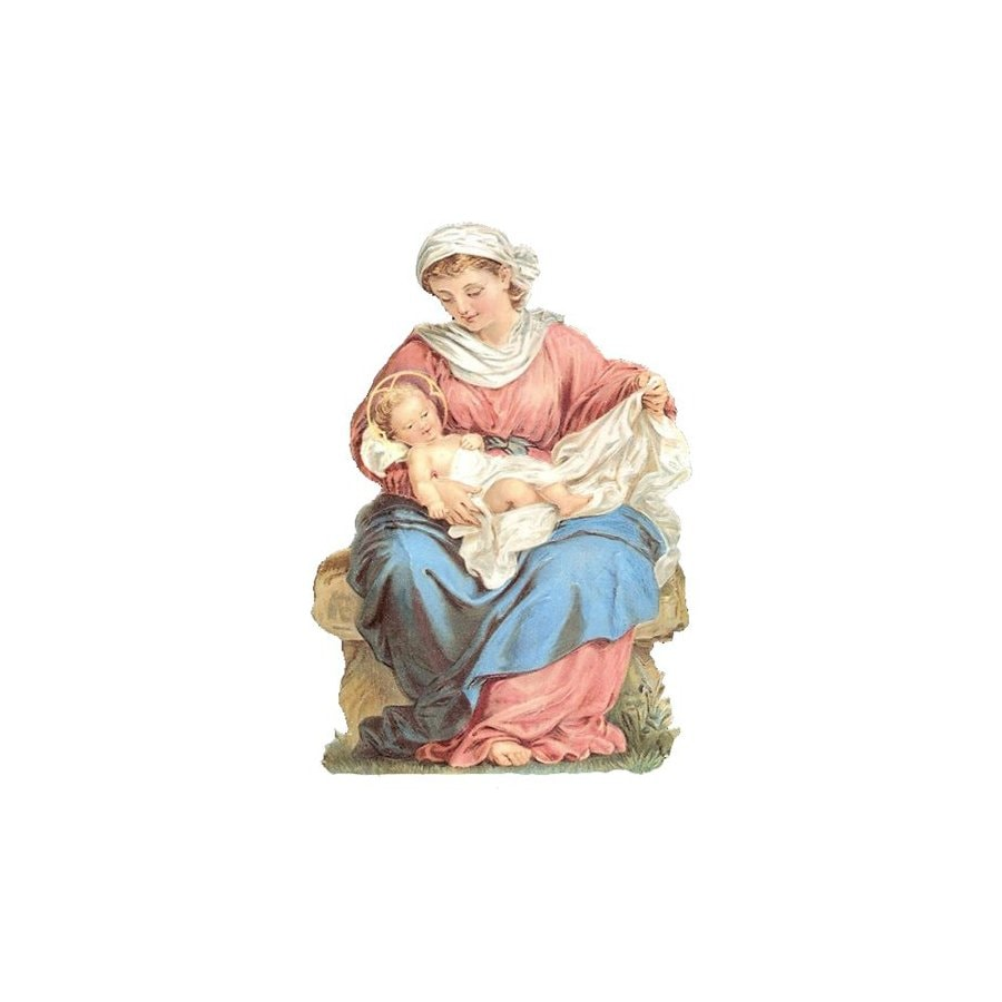 Alexander Taron 1-Pack Mary holding Jesus Holiday/Season Greeting Card Includes Envelope