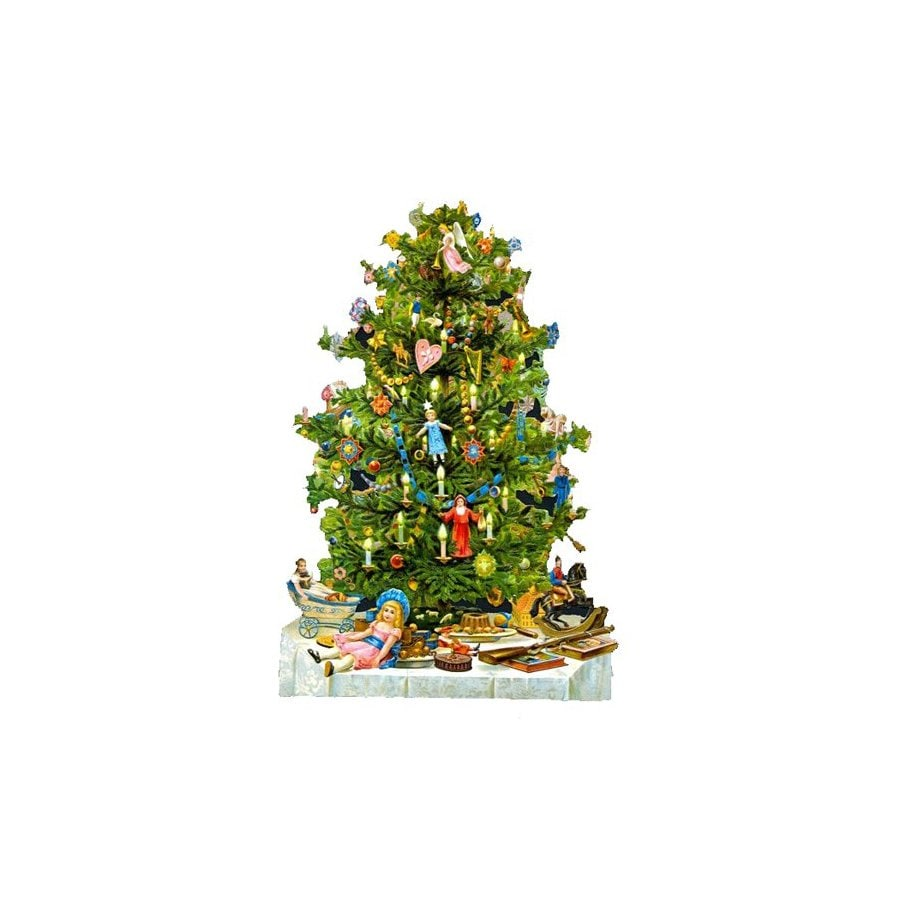 Alexander Taron Christmas Tree Standing Christmas Card Ornament