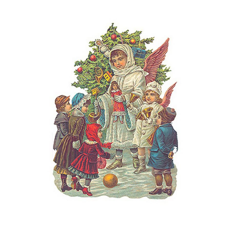 Alexander Taron 1-Pack Children Standing Holiday/Season Greeting Card Includes Envelope