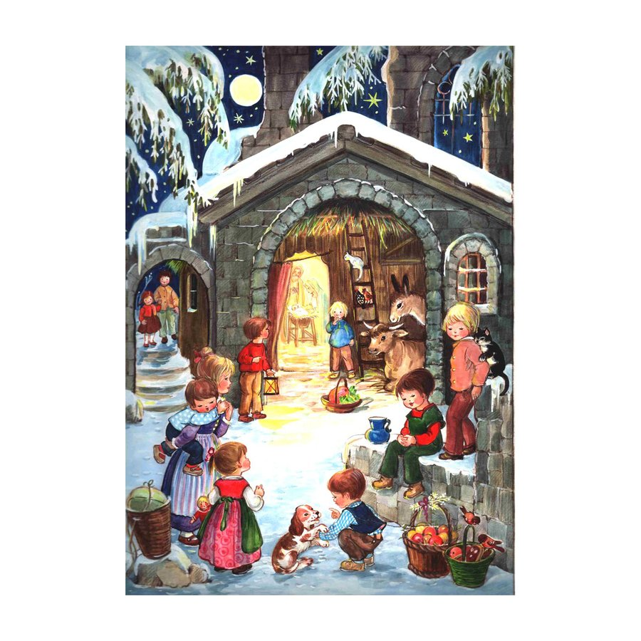 Alexander Taron Advent Calendar Nativity Indoor Christmas Decoration