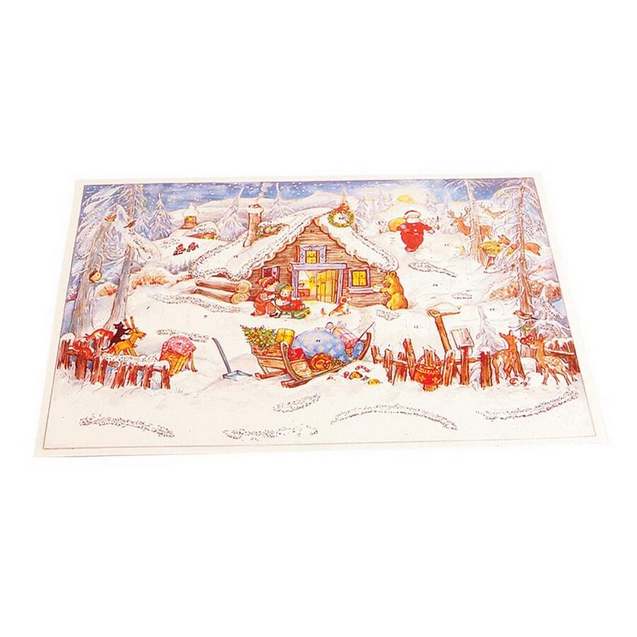 Alexander Taron Small Santa Cabin Advent Calendar Ornament