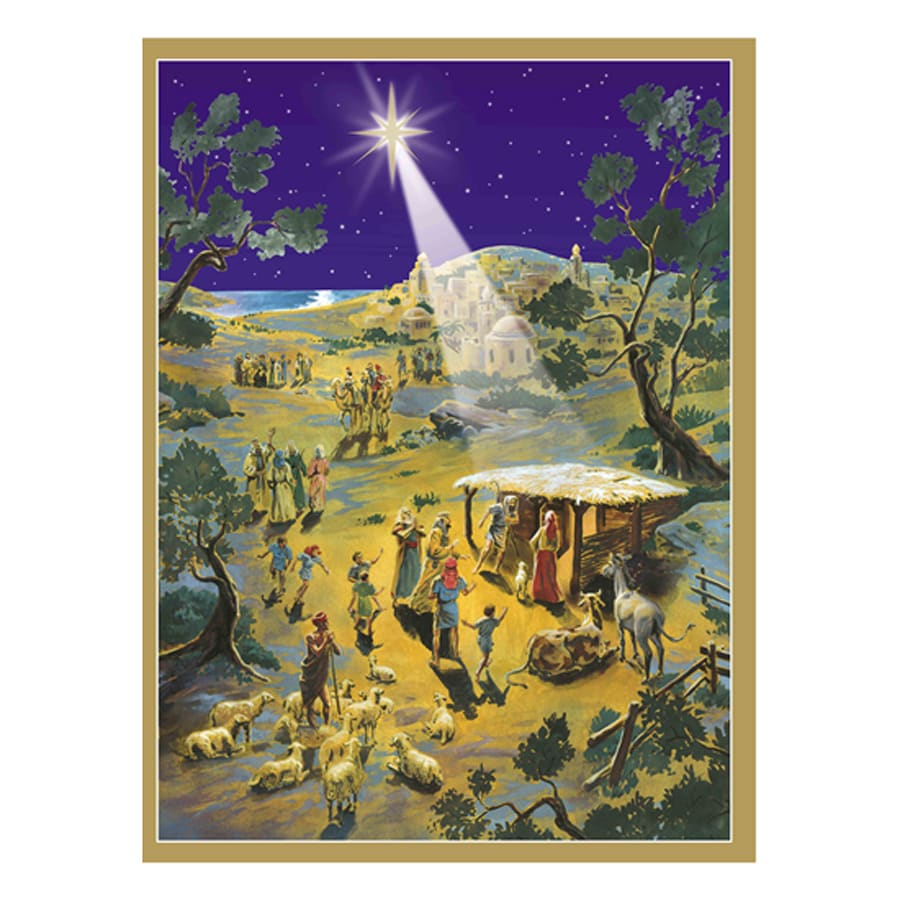 Alexander Taron Nativity Paper Tabletop Advent Calendar
