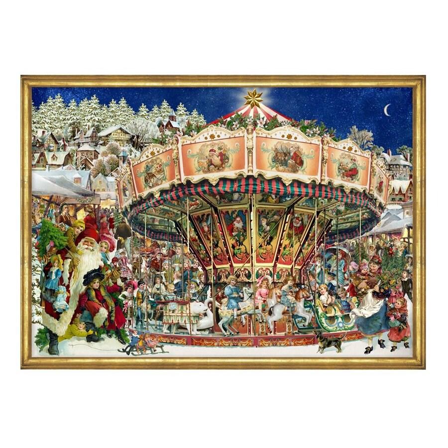 Alexander Taron Merry-Go-Round Wood Tabletop Advent Calendar
