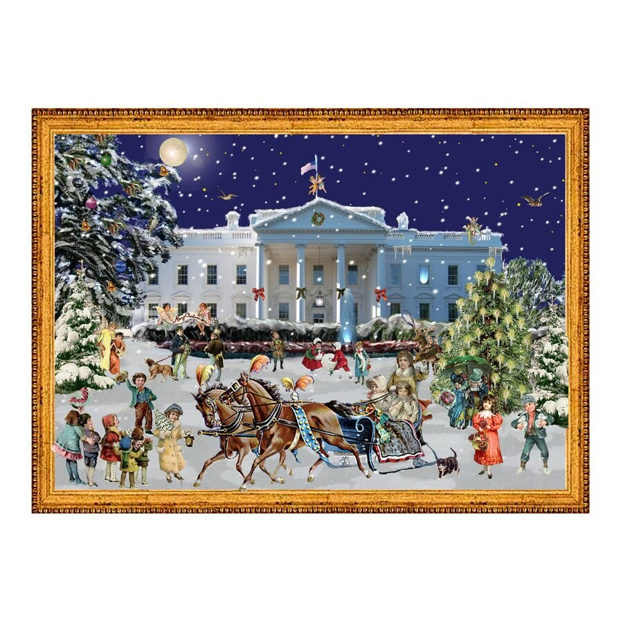 Alexander Taron Advent Calendar Winter Scene Indoor Christmas Decoration