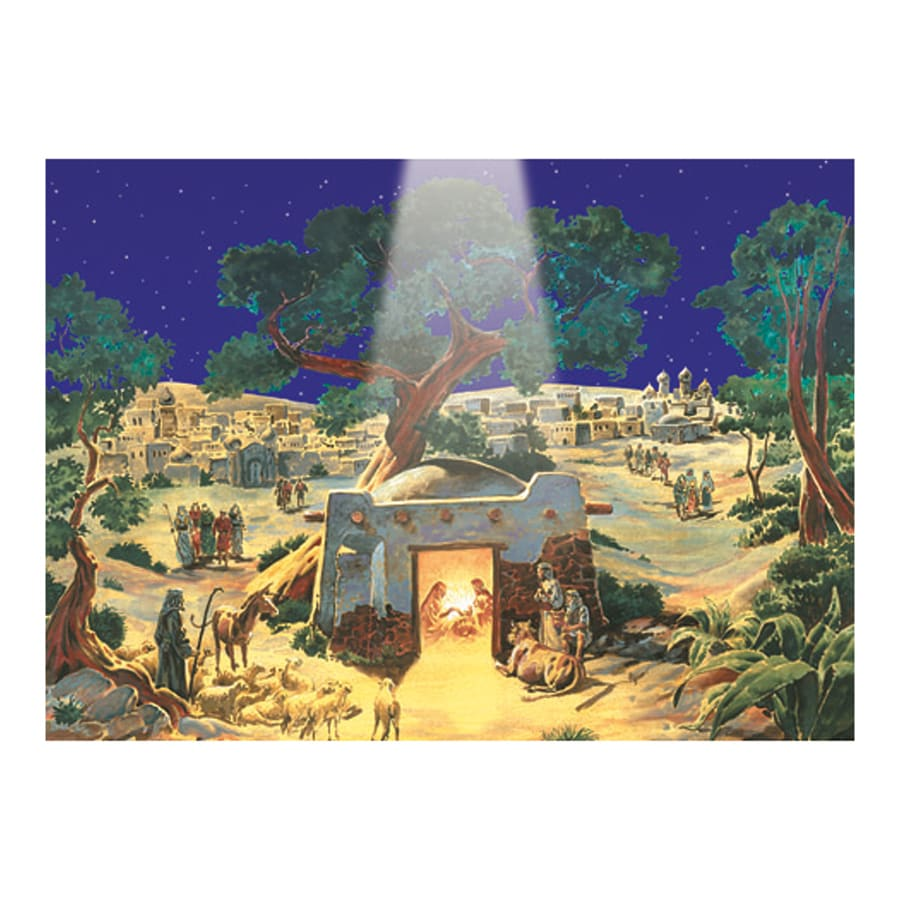 Alexander Taron Manger Paper Tabletop Advent Calendar